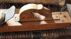 A planer tool use for carpentry Stock Footage