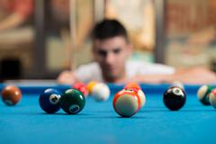 Stock Photo of young man concentration on ball