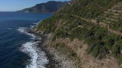 Aerial corsica nonza village cap Stock Footage