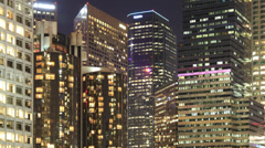 Time Lapse of Downtown LA Office Buildings Stock Footage