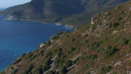 Stock Video Footage of aerial corsica nonza village cap