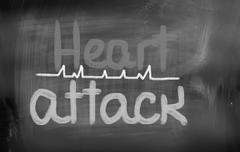 Heart attack concept Stock Illustration