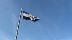 A waving kasmu flag Stock Footage
