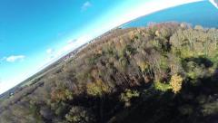Drone DJI Phantom crashes from 150feet Stock Footage