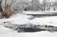 Stock Photo of winter scenic of the river krynka, donetsk region, ukraine