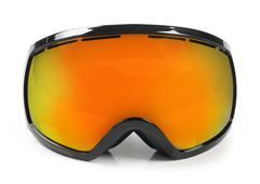 Ski snowboard protective goggles isolated on white Stock Photos