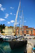 Port of nice in southeastern france Stock Photos