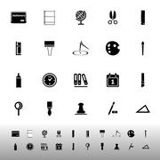 General stationary icons on white background Stock Illustration