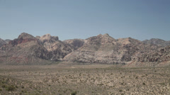 Red Rock Canyon national park near Las Vegas, Nevada Stock Footage