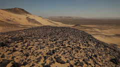 Panoramic view of the Black Desert, Egypt Stock Footage