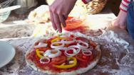 Stock Video Footage of Adding seasonings to tasty pizza, super slow motion, shot at 240fps HD