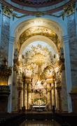 altar at st. charles church (karlskirche) in vienna - stock photo