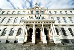Council building in riga, latvia Stock Photos