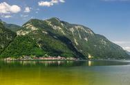 Stock Photo of beautiful mountains landscape of hallstatt, village in austria