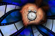 Stock Illustration of time to see movie concept