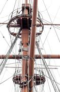 Stock Photo of ship rigging