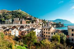 Beautiful nature landscape. view of italian village Stock Photos
