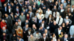 Crowd with Blur Stock Footage