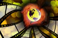 Stock Illustration of world movie concept