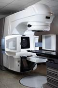 linear accelerator at hospital - stock photo