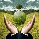Stock Illustration of sustainable agriculture business for save the earth concept