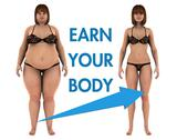 Stock Illustration of Women Weight Loss Earn Your Body