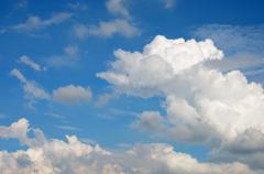 nice blue sky with cloud - stock photo