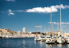 old port of marseille, france - stock photo