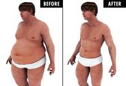 Stock Illustration of Weight Loss Body Transform before and after