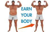 Stock Illustration of Man Weight Loss Body Transform Motivation