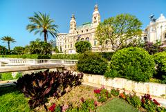 monte carlo casino and opera house - stock photo