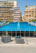 tribune. preparation to formula 1 monaco grand prix - stock photo