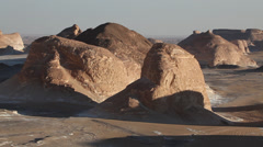 "Closer view of the ""Agabat"", White Desert, Egypt Stock Footage"
