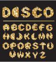 Stock Illustration of gold disco ball letters