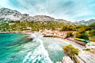 Stock Photo of beautiful landscape of calanque de sormiou. south france
