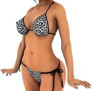 Beautiful and perfect female girl body with bikini - stock illustration