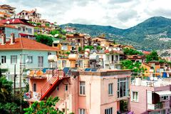 view of alanya town. turkey - stock photo