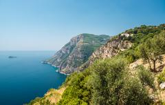 Via nastro azzurro, amalfi coast Stock Photos