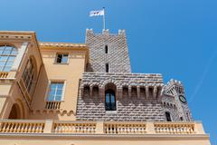 part of prince's palace of monaco - stock photo