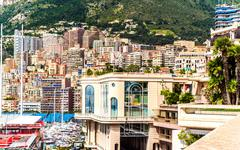 luxurious residential houses in monaco - stock photo