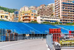 Tribune. preparation to formula 1 monaco grand prix Stock Photos