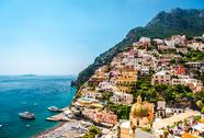 Stock Photo of picturesque amalfi coast. positano, italy