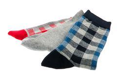 several socks - stock photo