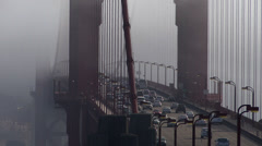 Traffic crossing the Golden Gate Bridge in San Francisco, California Stock Footage
