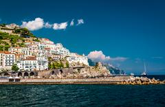 view of amalfi - stock photo