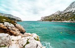 Beautiful landscape of calanque de sormiou. south france Stock Photos