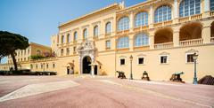 princes palace of monaco. official residence of the prince of monaco. - stock photo