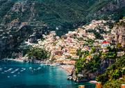 Stock Photo of amazing amalfi coast. positano, italy