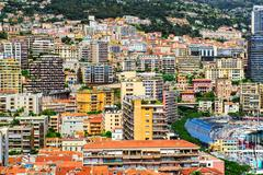 view of the principality of monaco - stock photo