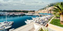 View of monaco harbor Stock Photos